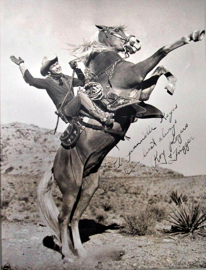 Roy Rogers & Trigger Autographed Photo