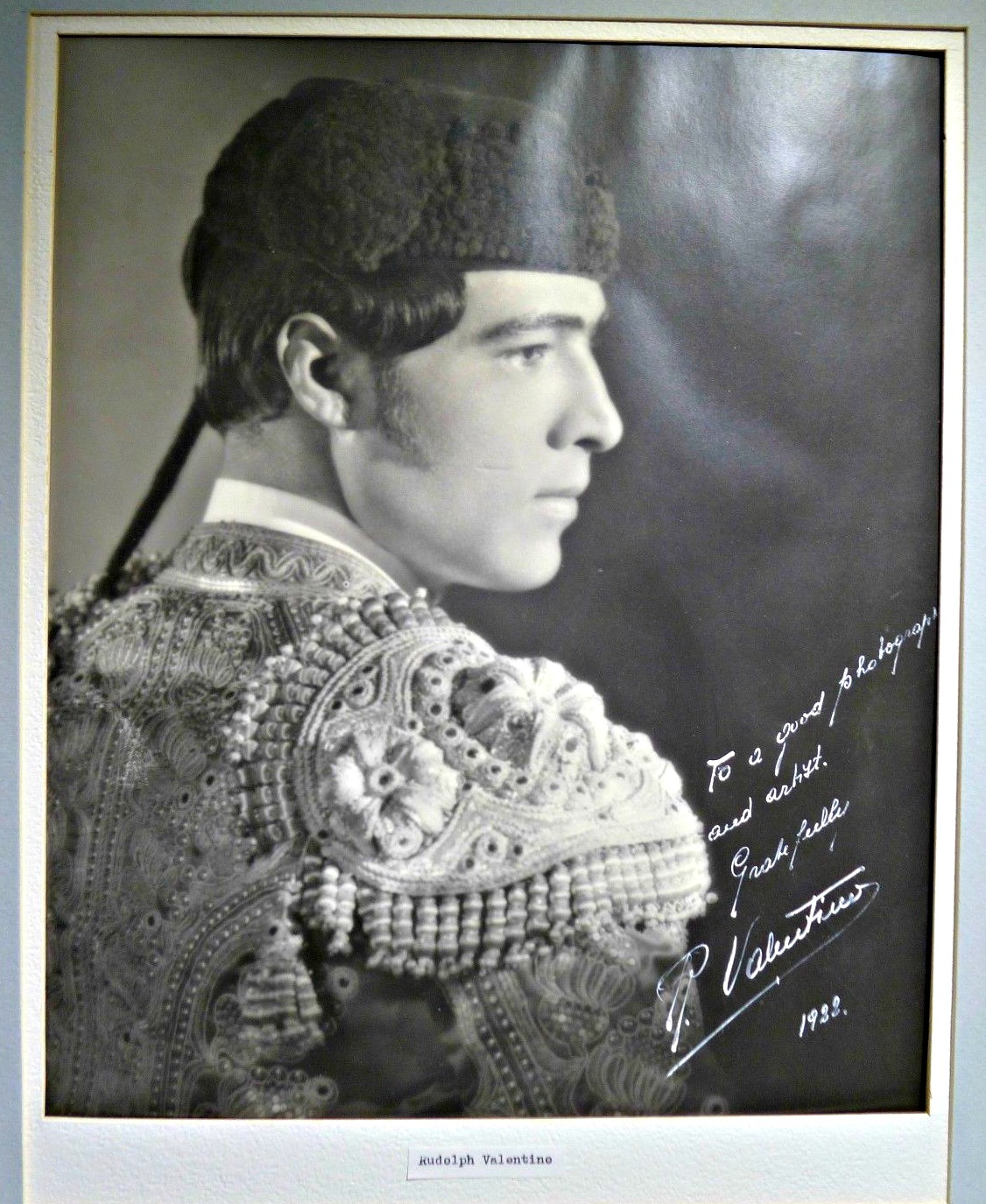 Rudolph Valentino Autographed Photo